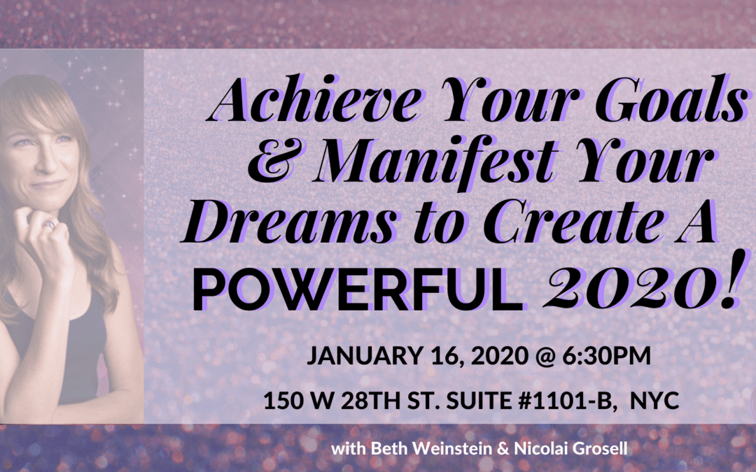 "Live, interactive workshop: ""Using 'Practical Woo' to Achieve Your Goals, Manifest Your Dreams & Create A Powerful 2020!"""
