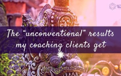 "The ""unconventional"" results my spiritual business coaching clients get"