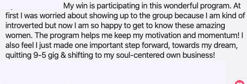 Beth Weinstein spiritual business coaching - review testimonial 10